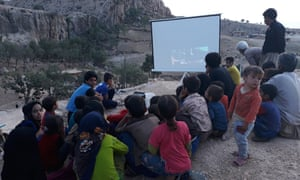 A film screening for children in Iran