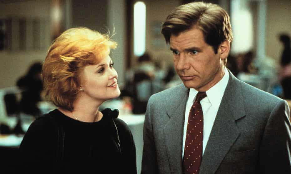 Melanie Griffith and Harrison Ford in Working Girl