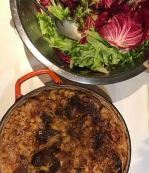 Cassoulet and side salad