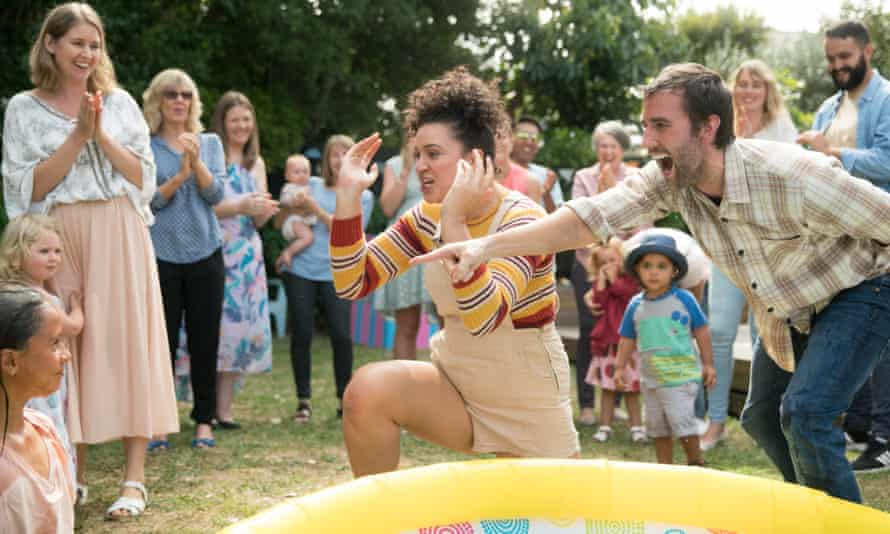Just kidding ... Rose Matafeo and Matthew Lewis in Baby Done.