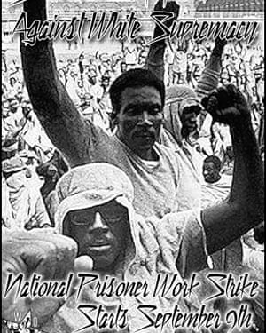 Pamphlet in support of the nationwide strike in support of prison workers' rights in the US.
