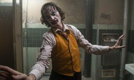 Dark … Joaquin Phoenix in Joker.