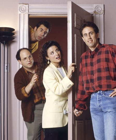 Seinfeld: (from left) Jason Alexander as George Costanza, Michael Richards as Kramer, Julia Louis-Dreyfus as Elaine Benes and Jerry Seinfeld as Seinfeld.