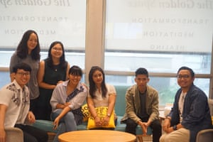 Bagia Arif Saputra (right), talking to his staff at the Golden Space studio in Jakarta, Indonesia.