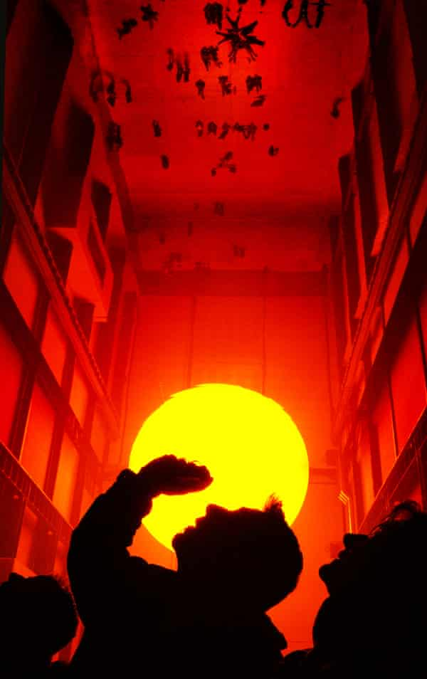 Here comes the sun … Olafur Eliasson's Weather Project installation in Tate Modern's Turbine Hall, 2003-04.
