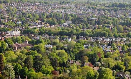 Reigate as seen from the North downs.