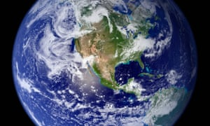North America from Space, Full Earth View from SpaceA full globe view of earth showing the western hemisphere. This view of the full Earth is a composite of many different satellite images. --- Image by NASA/Corbis