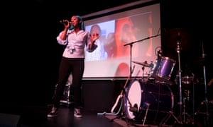 Singer Estelle Durin performing at Tileyard.