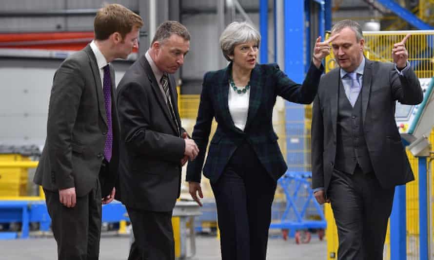 Theresa May visits factory