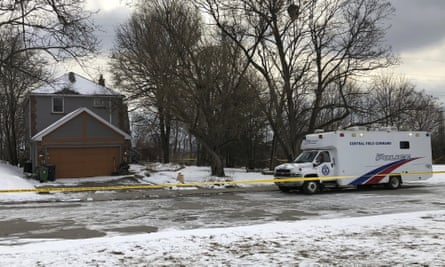 The property where police say they recovered the remains of several bodies from planters connected to Bruce McArthur in Toronto, Canada, on 3 February.