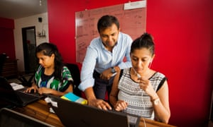 'I've three types of clients' ... Russsh founder Bharat Ahirwar at work in the office