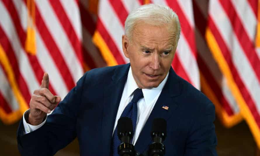 Joe Biden speaks in Pittsburgh, Pennsylvania about his $2tn infrastructure plan.