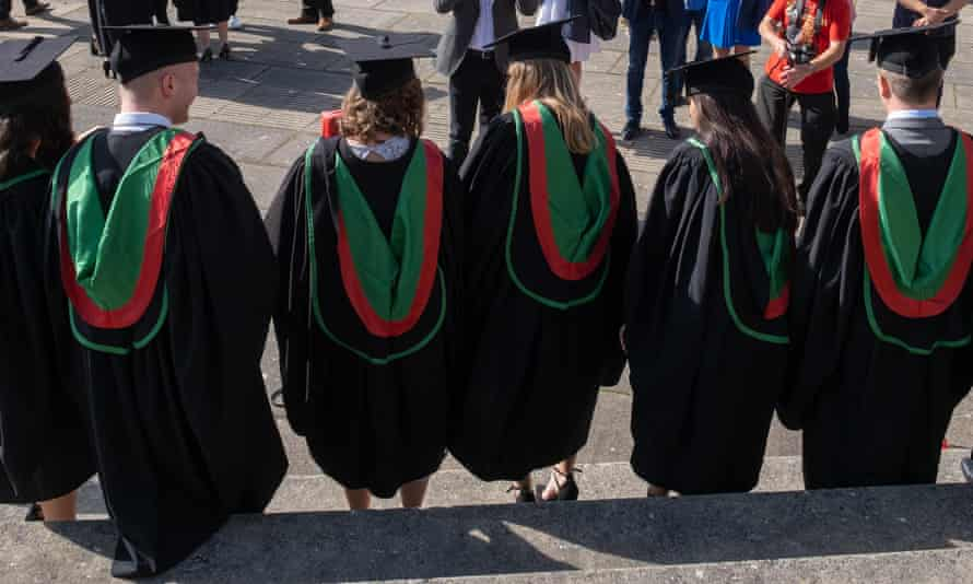 Students at a graduation ceremony at Aberystwyth university in July 2019.