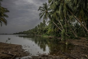 The Chunnambar river, Puducherry, India