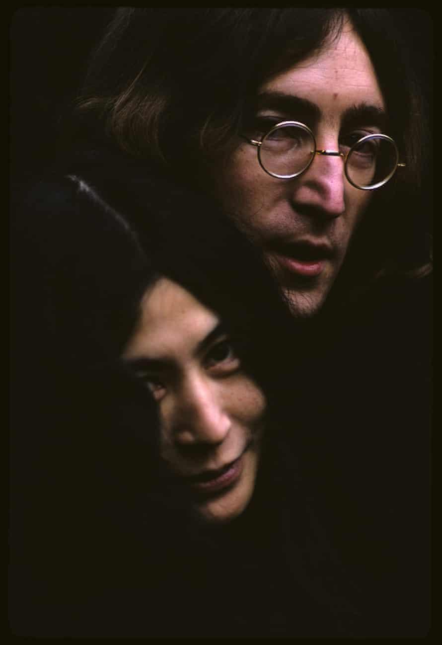 Yoko Ono and John Lennon in England in 1968.