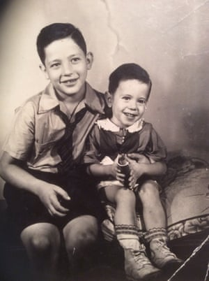 Larry, left, and Bernie as children.