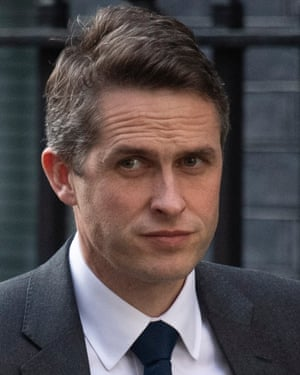 Former defence secretary Gavin Williamson.