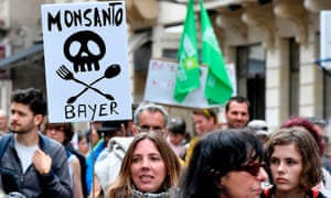 A march for agroecology and civil resistance against seed and pesticide maker Monsanto in Bordeaux, France.