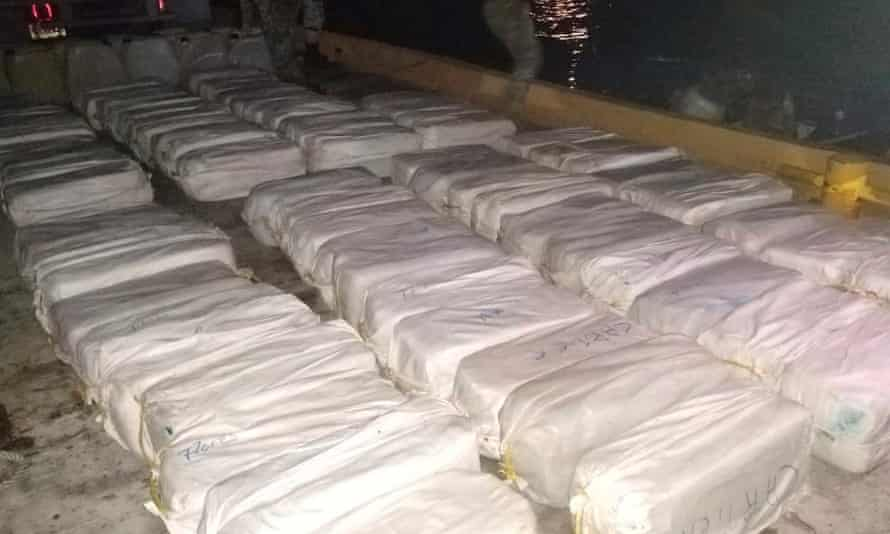 Cocaine packages, seized by the Mexican navy this month.