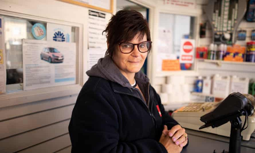Karen Read, who looks after the forecourt at Blasons Garage.