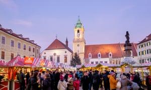 Bratislava at Christmas, the Hlavné námestie