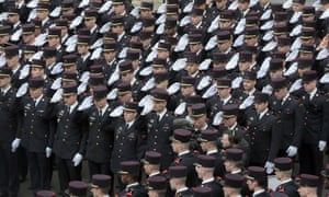 <strong>Paris, France</strong><br>Firefighters pay tribute to Sgt Aurelie Salel, who died fighting a blaze, during her funeral in the Champerret fire station