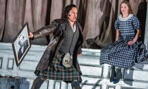 'A proud, impulsive hothead' ... Eleazar Rodríguez as Edgardo with and Sarah Tynan as Lucia.