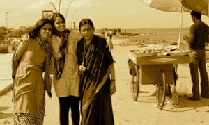 Kandasamy with her sister and mother in Puducherry, India.