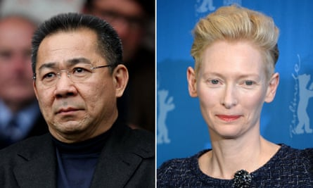 Vichai Srivaddhanaprabha, chairman; and the ever-versatile Tilda Swinton