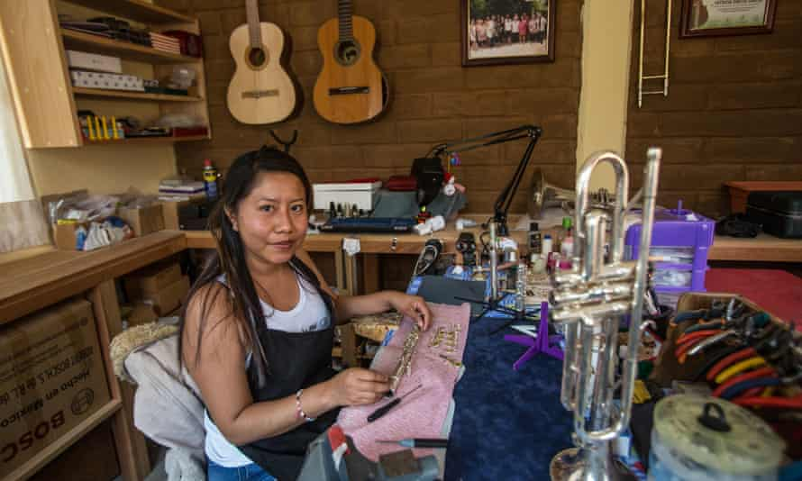 Patricia García in her workshop.