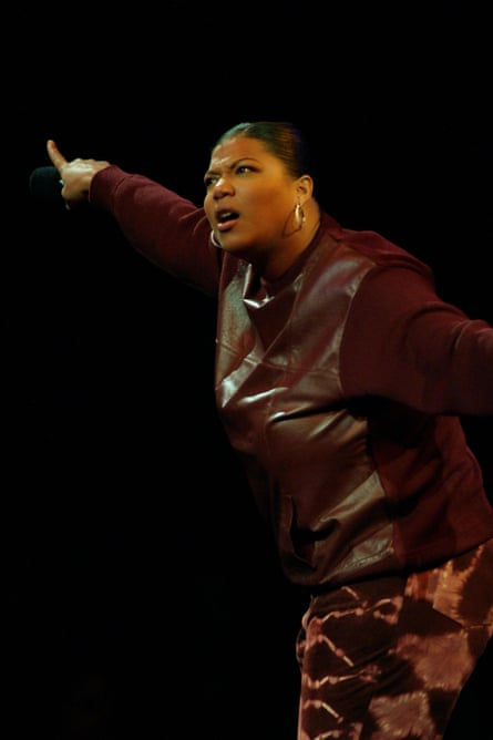 Queen Latifah performs at V Day in New York in 2001.