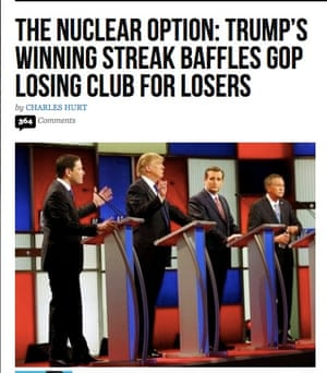 Headline from Breitbart.