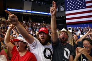 Trump supporters at a rally in North Dakota.