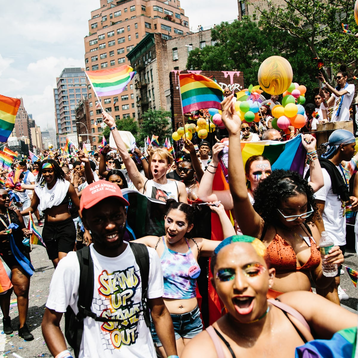 New York gay pride parade marches toward 50th year with new purpose | LGBT  rights | The Guardian