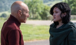 'America's sharper adult answer to Doctor Who': Patrick Stewart and Isa Briones in Star Trek: Picard
