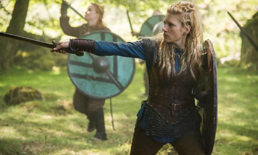 A warrior in her own right … Lothbrok's wife, Lagertha.