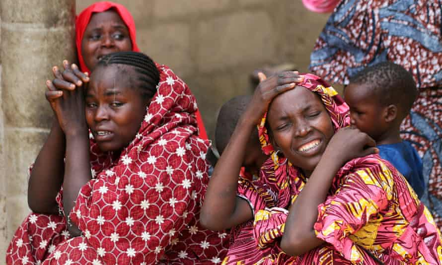 Relatives of the missing girls.