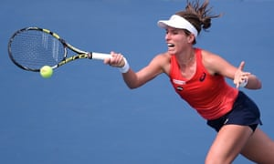 Johanna Konta was rarely troubled by the injury-plagued former world No1 and had looked on her way to victory before Victoria Azarenka's retirement.