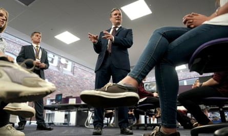 Keir Starmer talking to Darlington sixth formers last month.