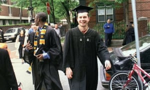 Pete Buttigieg on the occasion of his Harvard graduation on 10 June 2004 in Cambridge, Massachusetts. After a subsequent stint at Oxford University he went to work for McKinsey.