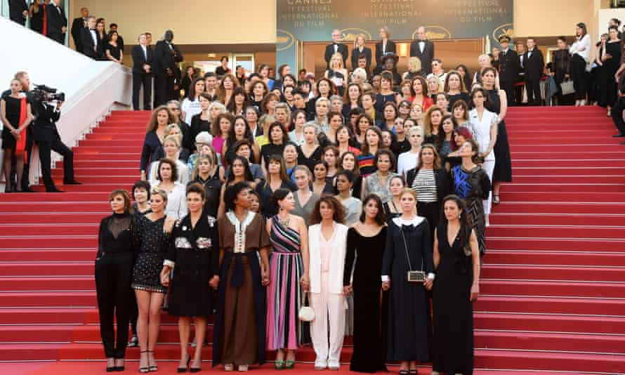 A group of 82 women working in the film industry protest the lack of female directors at Cannes.