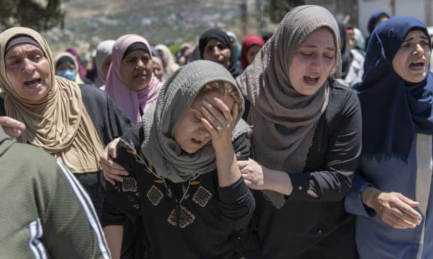 The funeral of Husam Asayra, 20, in the West Bank village of Asira al-Qibliya, near Nablus, on May 15.
