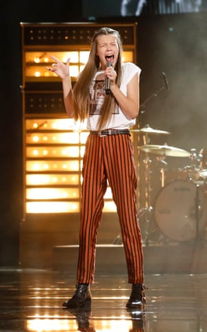 Courtney Hadwin on the America's Got Talent stage.