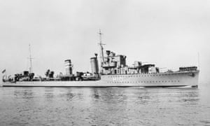 HMS Encounter photographed in 1938.
