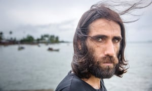 Behrouz Boochani, pictured on Manus Island.