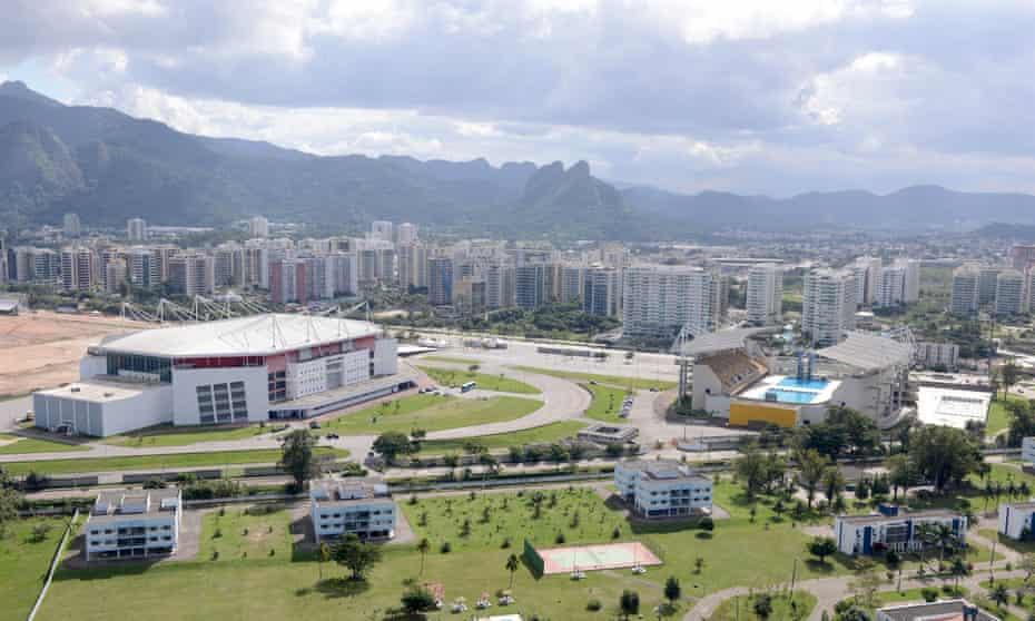 Rio's Olympic Arena and Maria Lenk aquatic centre in the Barra da Tijuca area.