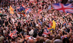 The 2015 Last Night of the Proms at the Albert Hall, London.