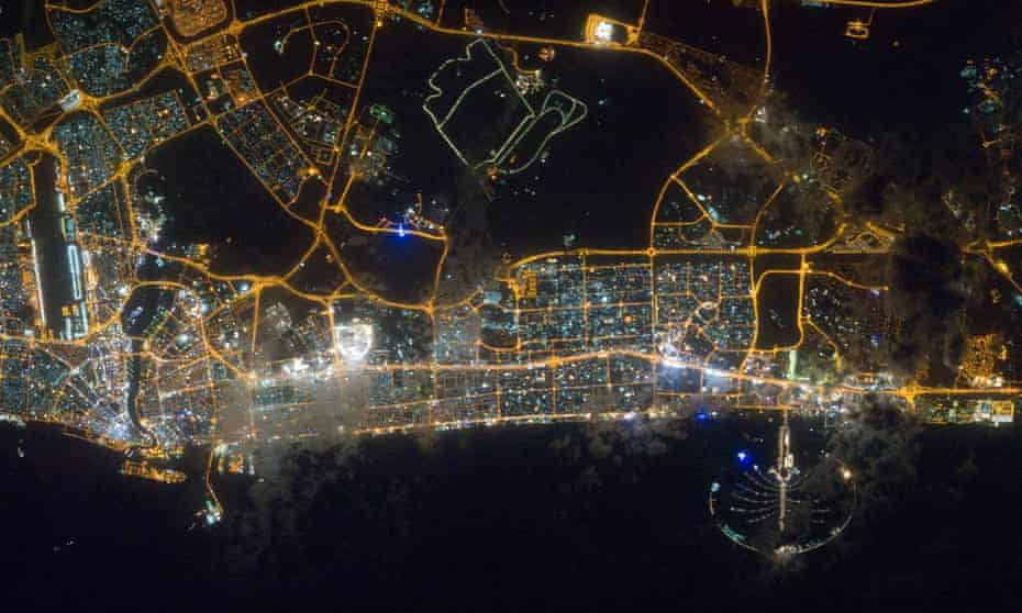 Dubai, which sits at the bottom end of the of the sleep spectrum. Light pollution is one factor that can influence sleep.