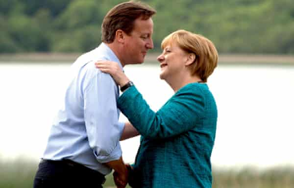 David Cameron and Angela Merkel at the G8 Summit at Northern Ireland in 2013