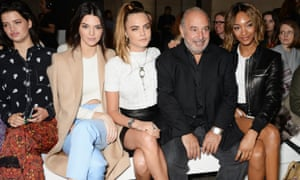 'My mood isn't improved as I read that Philip Green has taken delivery of a £46m private jet' ... Green at a fashion show.